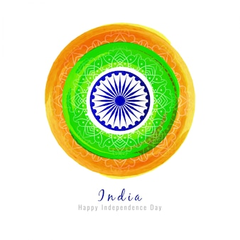 Circular indian independence day design