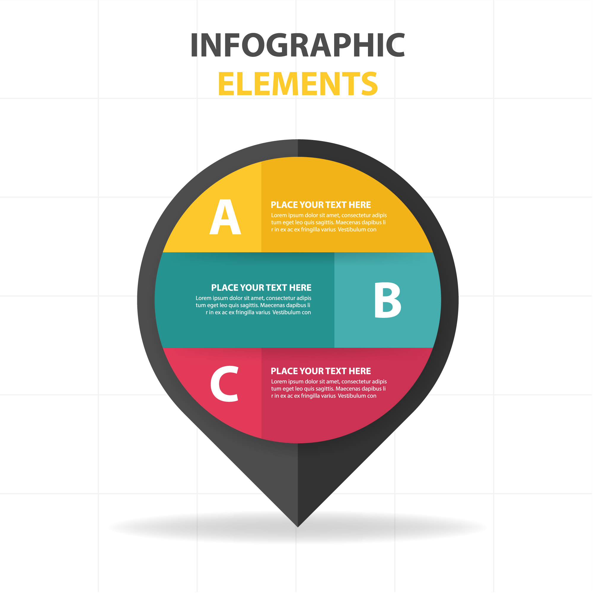 Circular infographic elements template