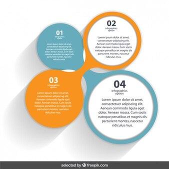 Circular infographic elements