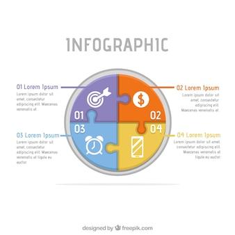 円形インフォグラフィックテンプレート
