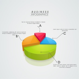 Circular infographics with 3d sections