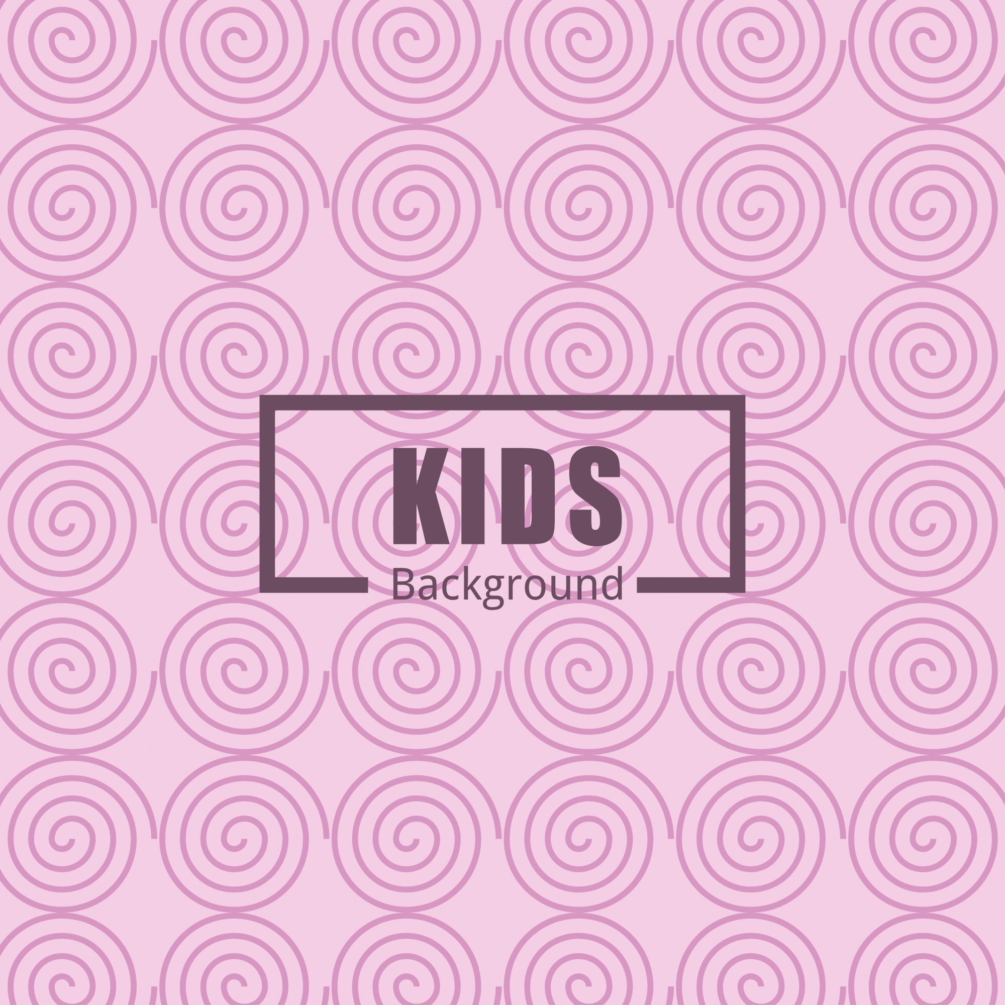 Circular pattern background for kids