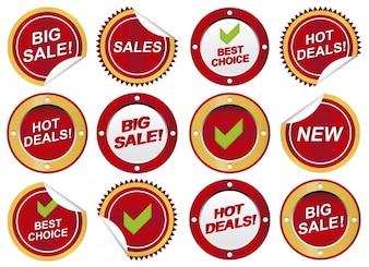 Circular sale stickers