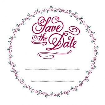 Circular wedding invitation