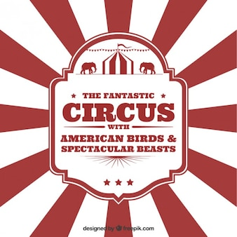 Circus flyer in vintage style