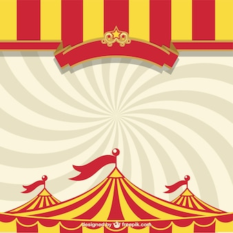 Circus tent and sunburst