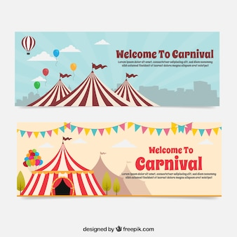 Circus tent banners
