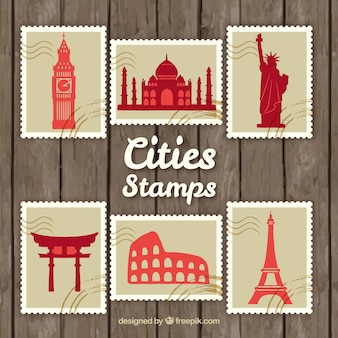 Cities stamps pack