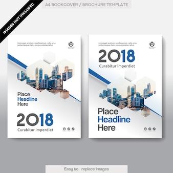 都市背景ビジネスブックカバーデザインテンプレート