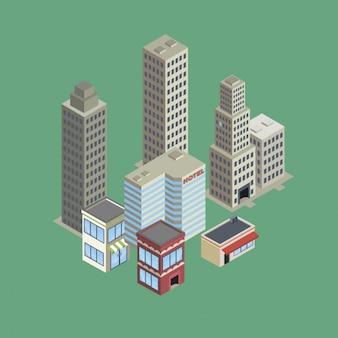 City buildings flat design