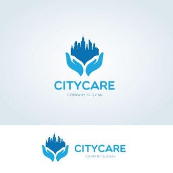 シティケアロゴ、不動産、クリエイティブな都市ロゴテンプレート。