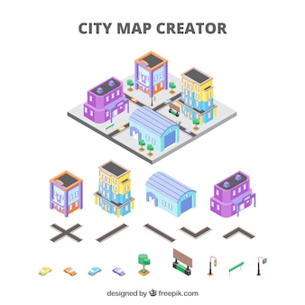 City creator in isometric view