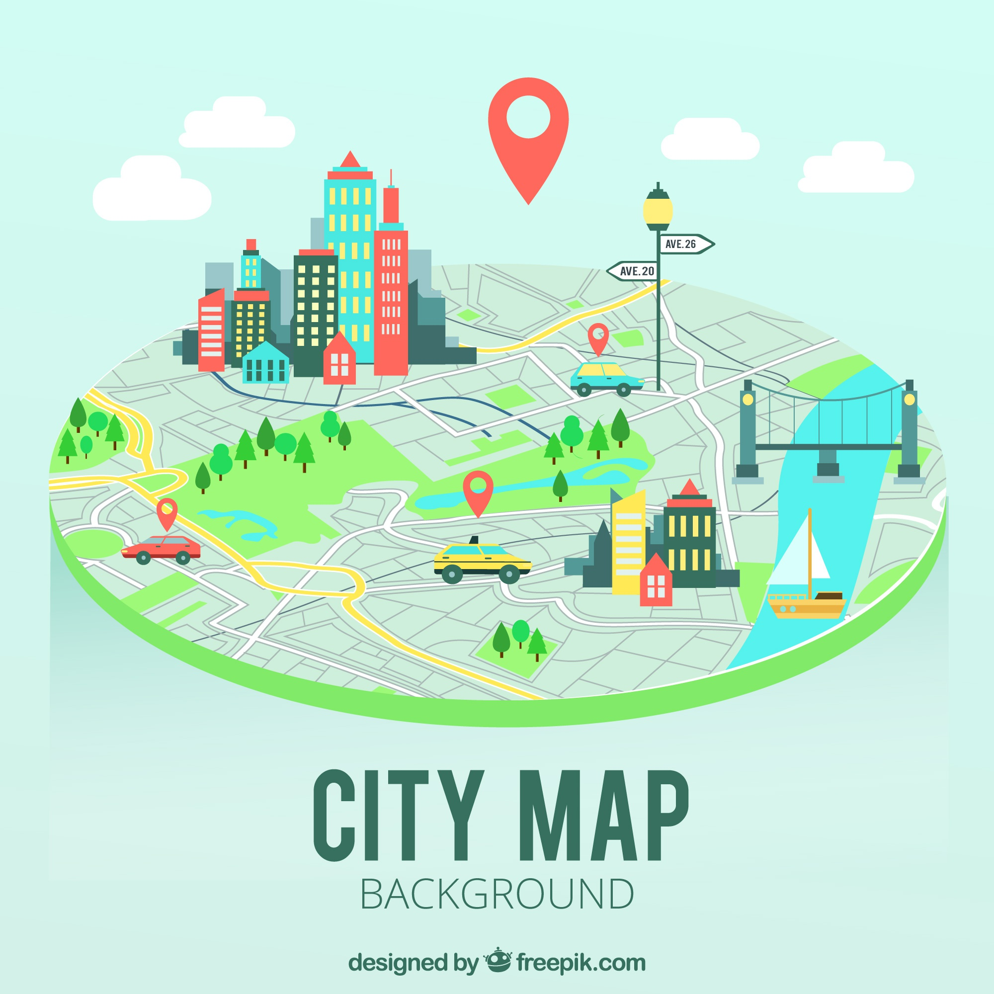 City map background
