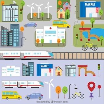 City map, flat style