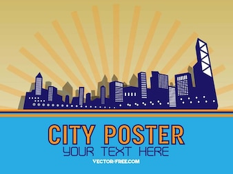 City skyline buildings vector graphics