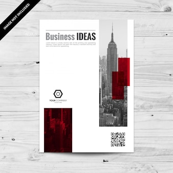 Cityline business flyher template with red background