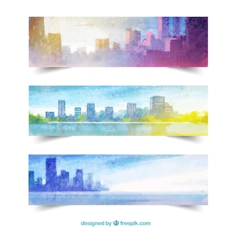 Cityscape banners