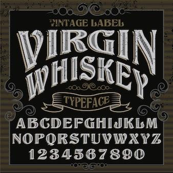 Classic alphabet design