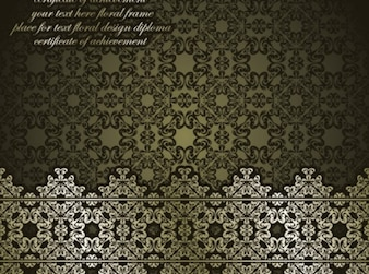 Classic antique art background vector set