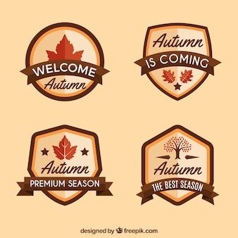 Classic autumn labels