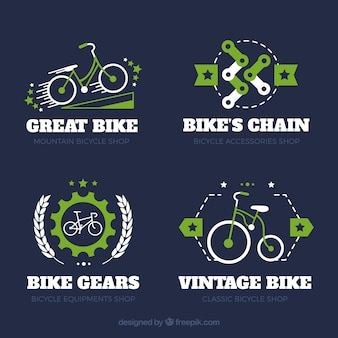 Classic bike logos with colorful style
