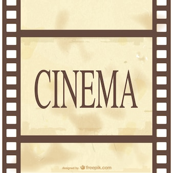 Classic cinema celluloid vector
