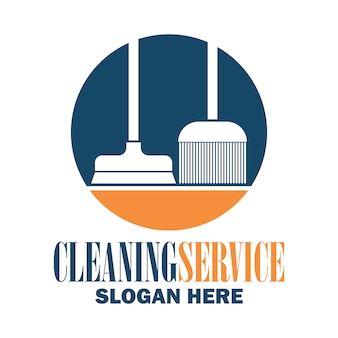 Classic cleaning logo design