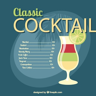 Classic cocktail list