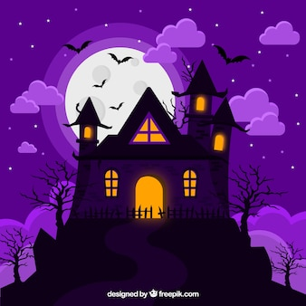 Classic halloween creepy house