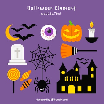 Classic halloween element collection