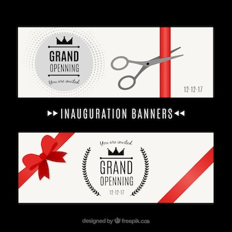 Classic inauguration ceremony banners