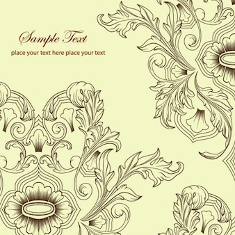 Classic ornaments vintage floral design vector