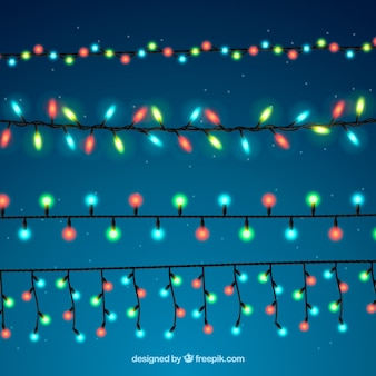 Classic pack of colorful christmas lights