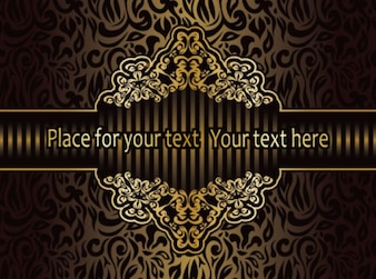 Classic pattern antique art background vector set