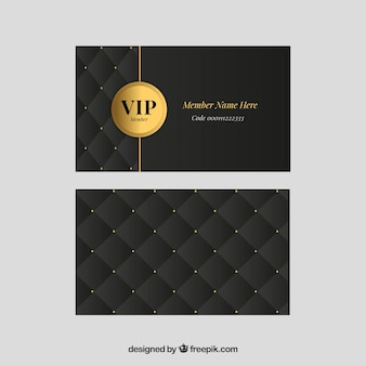 Classic set of golden vip cards