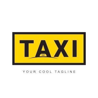 クラシックなタクシーのロゴデザイン