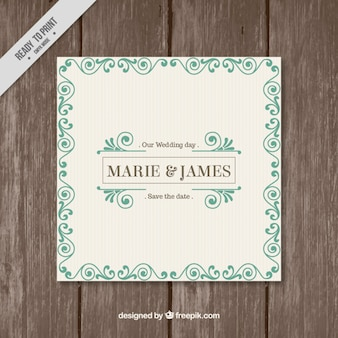 Classical Wedding Invitation Template