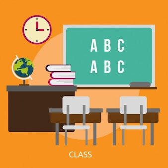 Classroom background design