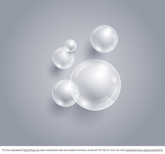 Clean bubbles background vector