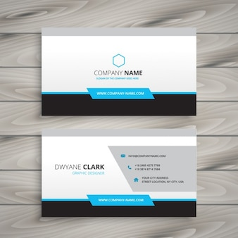 clean business card for company