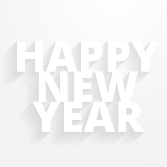 clean minimal happy new year