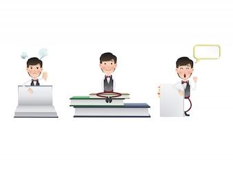 Clean tie template brochure worker