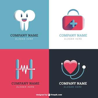 Clinic logos in flat design