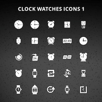 Clock and watches icons