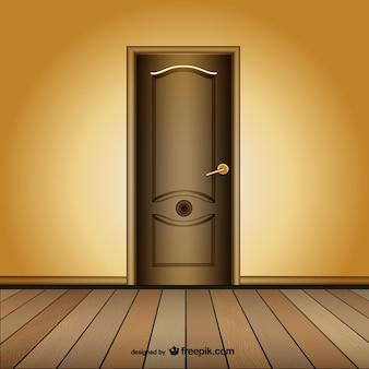 Closed door vector template