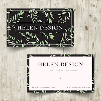 Clothes brand business card design
