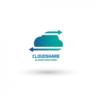 Cloud logo template