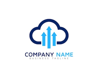 Cloud logo with arrows