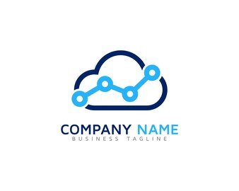 Cloud logo with technology design