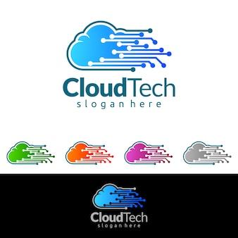 облачный технический логотип